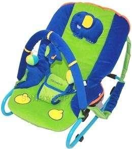 Sun Baby plüss Pihenőszék - Elefánt - kék-zöld