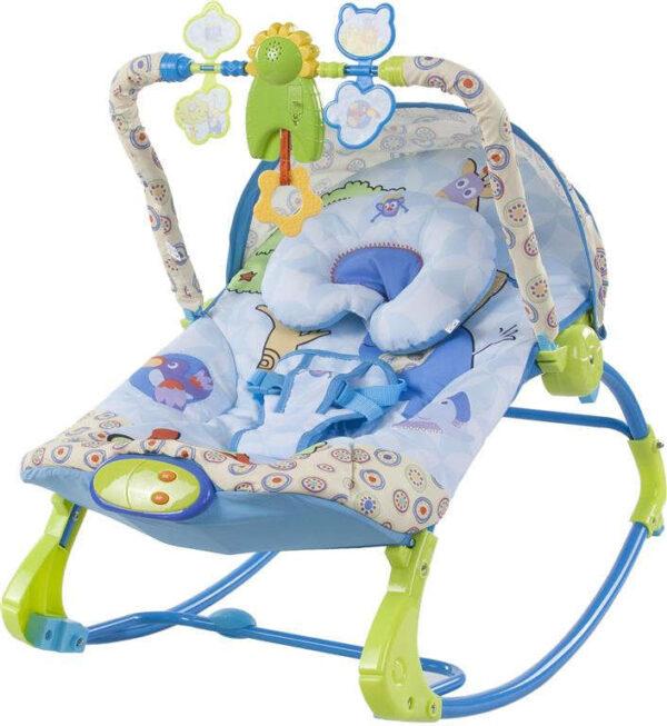Sun Baby rezgő-zenélő Pihenőszék - kék